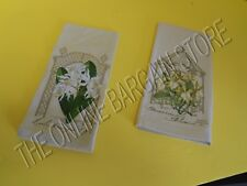 Pottery Barn Orchid Flower Guest Bath Bathroom Hand Towels Set 2 Vintage Linen