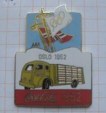 COCA-COLA / OLYMPISCHE SPIELE OSLO 1952 TRUCK ... Pin (177f)