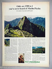 Panagra Pan Am Pan American Airlines PRINT AD - 1964 ~~ Machu Pichu