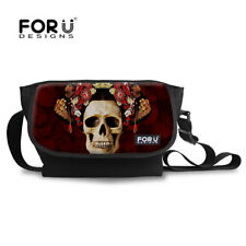 Women Large Shoulder Messenger Bag Skull Crossbody School Satchel Bags Fashion