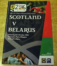Away Teams A-B Belarus Football World Cup Fixture Programmes