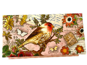 Punch Studio Red Bird Music Box with Verbena Soap Plays Beethoven's Ode to Joy