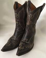 """Men's Old Gringo  Size 7 Handmade Cowboy Boots 11"""" Tall"""