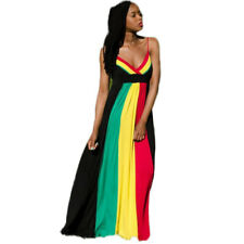 Jamaica Multi Colour Panel Maxi dress....2 Size's....-10-12 and 12-14