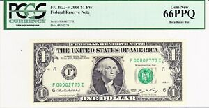 2006 $1 FI Block FRN with LOW serial # - PCGS GRADED