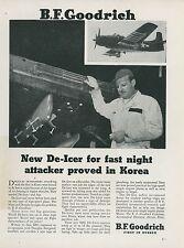1951 BF Goodrich Aviation Rubber Ad Douglas Skyraider Korea Korean War Navy