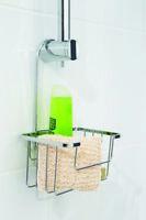 Croydex Hanging Chrome Silver Shower Caddy Basket Holder With Hook qm360441