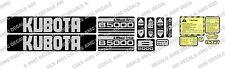 KUBOTA B5000 COMPACT TRACTOR DECAL STICKER SET