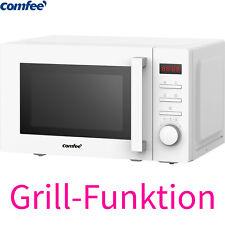 Comfee Kombi Mikrowelle 700W mit Grill 1000W Timer 20 Liter Auftauprogramm Weiß