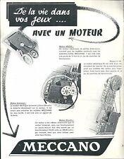 Meccano avec un moteur jouet jeux
