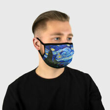 The Starry Night Van Gogh fabric cotton face Mask