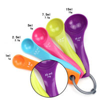 5 PC Measuring Spoons Cup Kitchen Tool Baking Teaspoon Scale Measure Colourworks