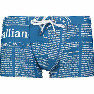 JOHN GALLIANO Blue Gazette Boxer Swim Shorts IT46 S
