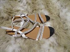 Deichmann Graceland Schuhe Sandalen Strass Zehentrenner weiß Größe 42 NEU c369355e06