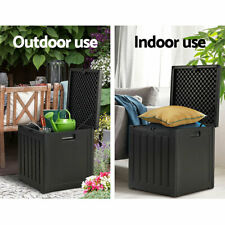 Gardeon OSB80ABK Outdoor Storage Box Waterproof Container Garden Toy Tool Shed - Black
