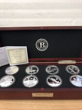 Bradford Exchange World War 2 Fighters Collection Silver Plated