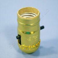 Leviton Push Through Light Socket Brass Lamp Holder Electrolier Bulk 7080-275