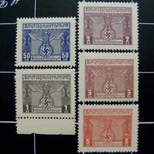 Germany Butchery Fee revenue stamps-MNH-WW2 German nazi occupied Poland-Gen Gov