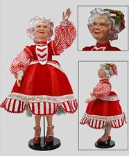 "Katherine's Collection 30"" Mrs. Claus Cuckoo Collection Doll Christmas New"