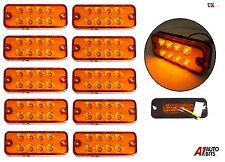 10 PCS 12V 8 LED SIDE REAR AMBER ORANGE MARKER INDICATOR REFLECTOR LIGHTS LAMP