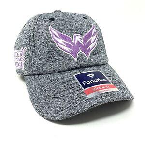Fanatics Washington Capitals Hockey Fights Cancer Adjustable Strapback Hat - NEW