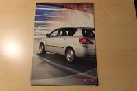 01188) Toyota Avensis Verso Zubehör Prospekt 02/2002