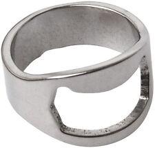 New Beer Ring  Bottle Opener Stainless Steel Metal Finger Thumb keyring Tool UK