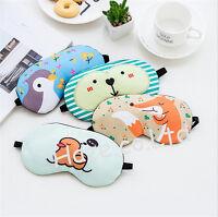 Cute Cartoon Eye Mask Cover Travel Sleeping Eyepatch Rest Toy Kid/Adult Gift