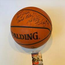 Michael Finley Signed Dallas Mavericks Game Used Spalding NBA Basketball JSA COA