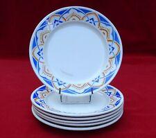 6 anciennes assiettes plates Lunéville KG modèle Carantec Art déco Ø 22,6 cm n°2