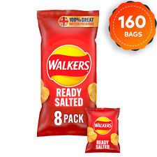 20 x Walkers Ready Salted Crisps Pack of 8 x 25g Multipack Short Dated