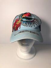 Ed Hardy by Christan Audigier Bird Tattoo Wear Hat Cap Blue