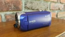 Nice Sony Handycam HDR-CX240 Blue 9.2 MP Full HD 54X Zoom Camcorder 29.8 mm Lens