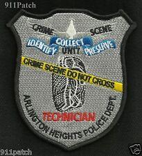 ARLINGTON HEIGHTS, IL Crime Scene Unit TECHNICIAN Law Enforcement POLICE Patch