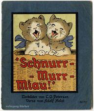 Holst: Schnurr-Murr Miau, Scholz' Künstler-Bilderbuch von 1931