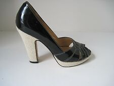 Cole Haan Collection Charlize N. Air Black Patent Leather Platform Heels 6M