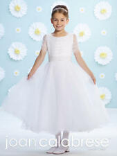 237407576 NEW Girl's Joan Calabrese FANCY White FIRST COMMUNION Dress Size 8 116385