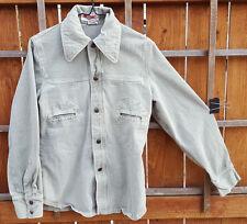 Vintage BIG YANK Mens Soft Denim Jacket Shirt-M-RN 43602-Light Blue-Snap Buttons