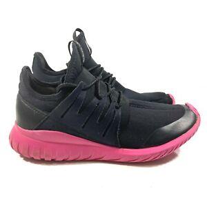 Men's ADIDAS Tubular Radial Size 9 Black Pink S75393