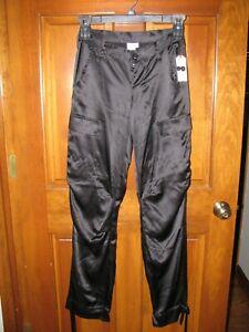JOIE Women's size 25 Black Silk Breathe Pants Button Fly NWT