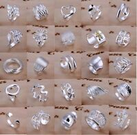 Size Q 925 Sterling Silver Filled Ring Women's Fashion jewelry Christmas Gift