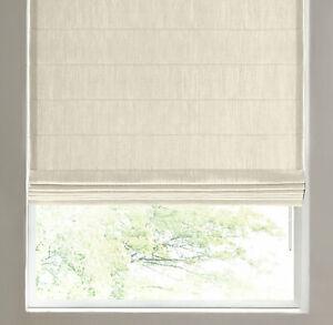 NEW RH CUSTOM Belgian Txt Linen Tailored Roman Shade LINED 49.5x63L