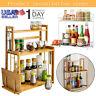 3-Tier Rack Storage Pantry Organizer Kitchen Spice Jars Bottle Shelf Holder