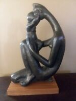 MANUEL CARBONELL Austin Production First Kiss Sculpture 1972 Mother/Child 21 1/2