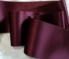 """1"""" Wide Swiss Double Face Satin Ribbon- Dark Ruby Red - By The Yard"""
