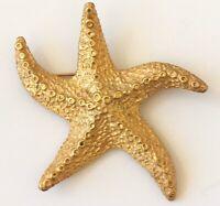 Vintage Starfish brooch  in gold tone metal
