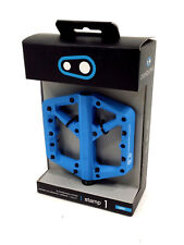 Crank Brothers Stamp 1 Mountain Bike Pedals, Blue, Large