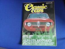 Classic Cars Magazin BMW Alfa GTA XK120 Racer Gilbern Rac Classic 8.1986 BB