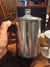 Travel Coffee Pot VINTAGE  KOFFEE  KIT TRAVEL 4 CUP PERCOLATOR   & CASE-WORKS