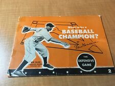 Bob Feller Indians 1945 General Mills Want to be a Baseball Champion Booklet